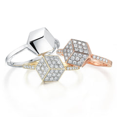 Unique Rose Gold Brillante® Rings With Diamonds - Paolo Costagli