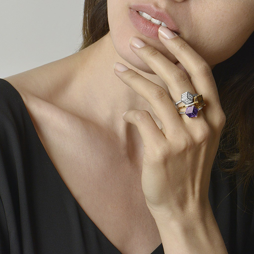 Amethyst and rose gold Ring - Paolo Costagli - 2