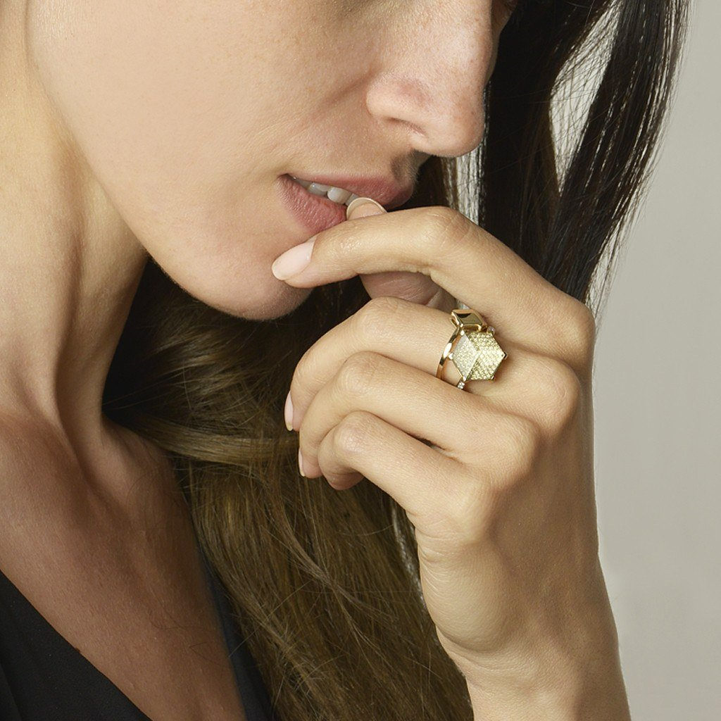 Yellow Gold 'Brillante®' Ring, Petite - Paolo Costagli - 4