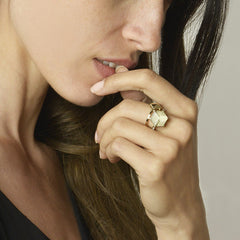 18kt Yellow Gold Stackable Brillante® 9mm Ring - Paolo Costagli
