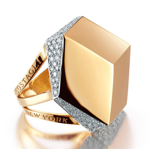 Rose Gold and Diamond 'Brillante®' Cocktail Ring - Paolo Costagli - 1