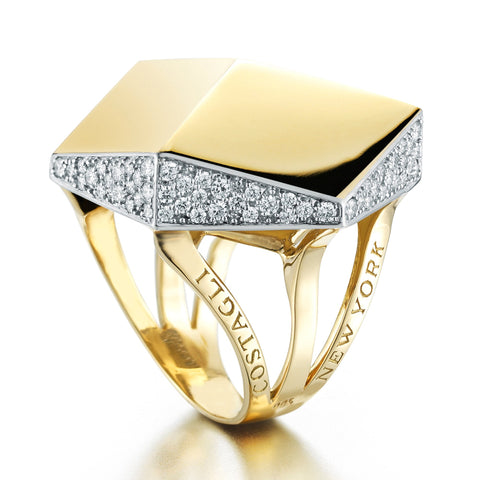 Yellow Gold and Diamond 'Brillante®' Cocktail Ring - Paolo Costagli - 1