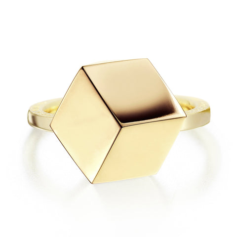 Yellow Gold Brillante® Ring, Medium - Paolo Costagli