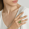 18kt Yellow Gold Emerald-Cut Peridot Valentina Ring - Paolo Costagli