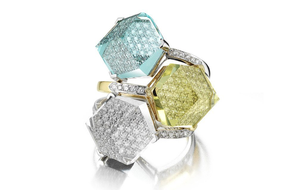 Blue Topaz and Diamond 'Brillante® Valentina' Ring, Medium - Paolo Costagli - 2