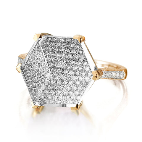 White Topaz and Diamond Ring - Paolo Costagli - 1