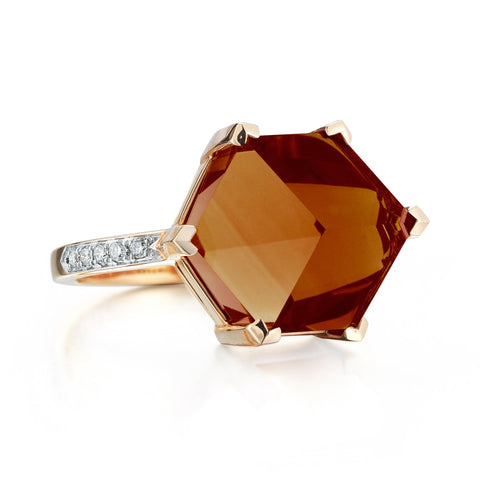 18kt Yellow Gold Citrine Brillante® Valentina Ring, Medium - Paolo Costagli