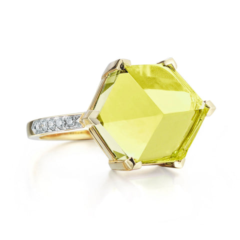 18kt Yellow Gold Lemon Citrine Brillante® Valentina Ring, Medium - Paolo Costagli