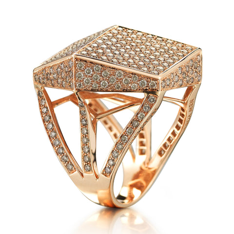 "Champagne Diamond ""Brillante®"" Cocktail Ring - Paolo Costagli - 1"