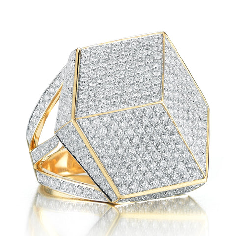 18kt Yellow Gold Brillante® Cocktail Ring With Brilliant Diamond - Paolo Costagli
