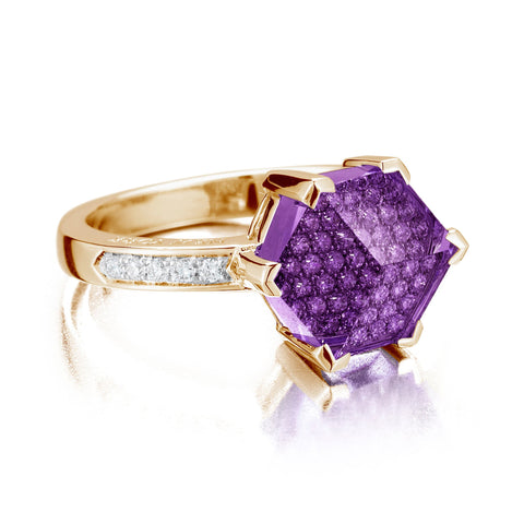 Amethyst and Diamond Brillante® Valentina Ring, Petite - Paolo Costagli