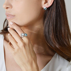 18kt White Gold Brillante® Valentina White Topaz Ring Petite - Paolo Costagli