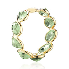 18kt Yellow Gold Green Sapphire Ombre Band Ring - Paolo Costagli