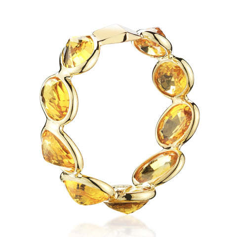 18kt Yellow Gold Orange Sapphire Ombre Band Ring - Paolo Costagli
