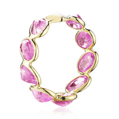 18kt Yellow Gold Pink Sapphire Ombre Ring - Paolo Costagli