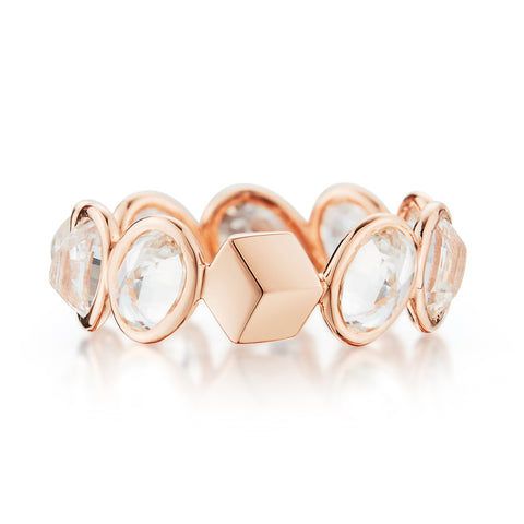 18kt Rose Gold White Sapphire Ombré Ring - Paolo Costagli