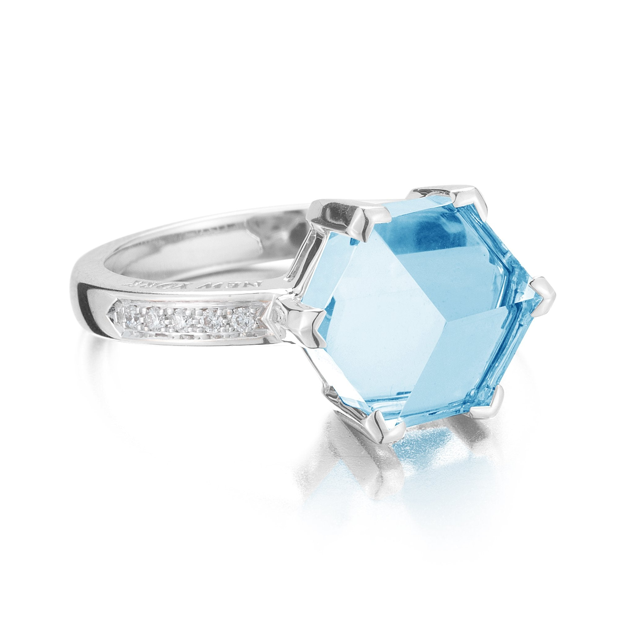 blue topaz white gold ring - Paolo Costagli