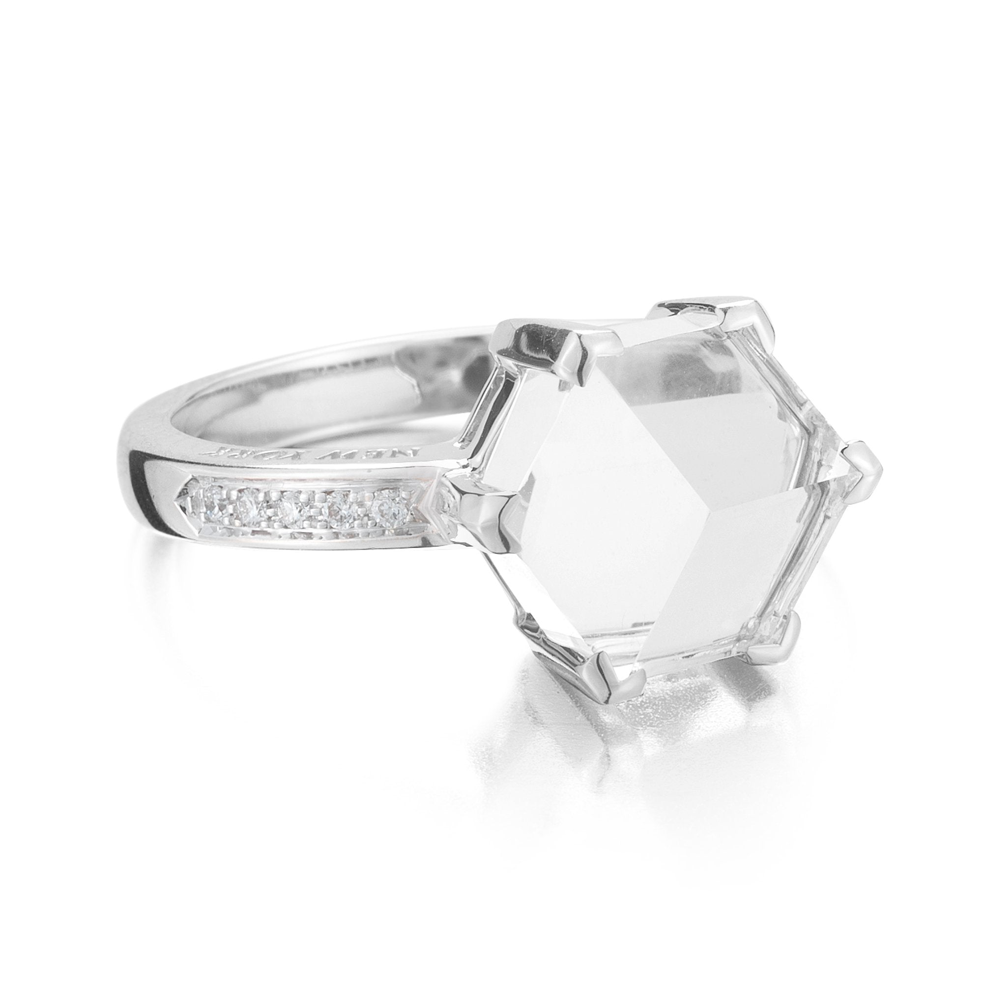 white topaz engagement ring - Paolo Costagli