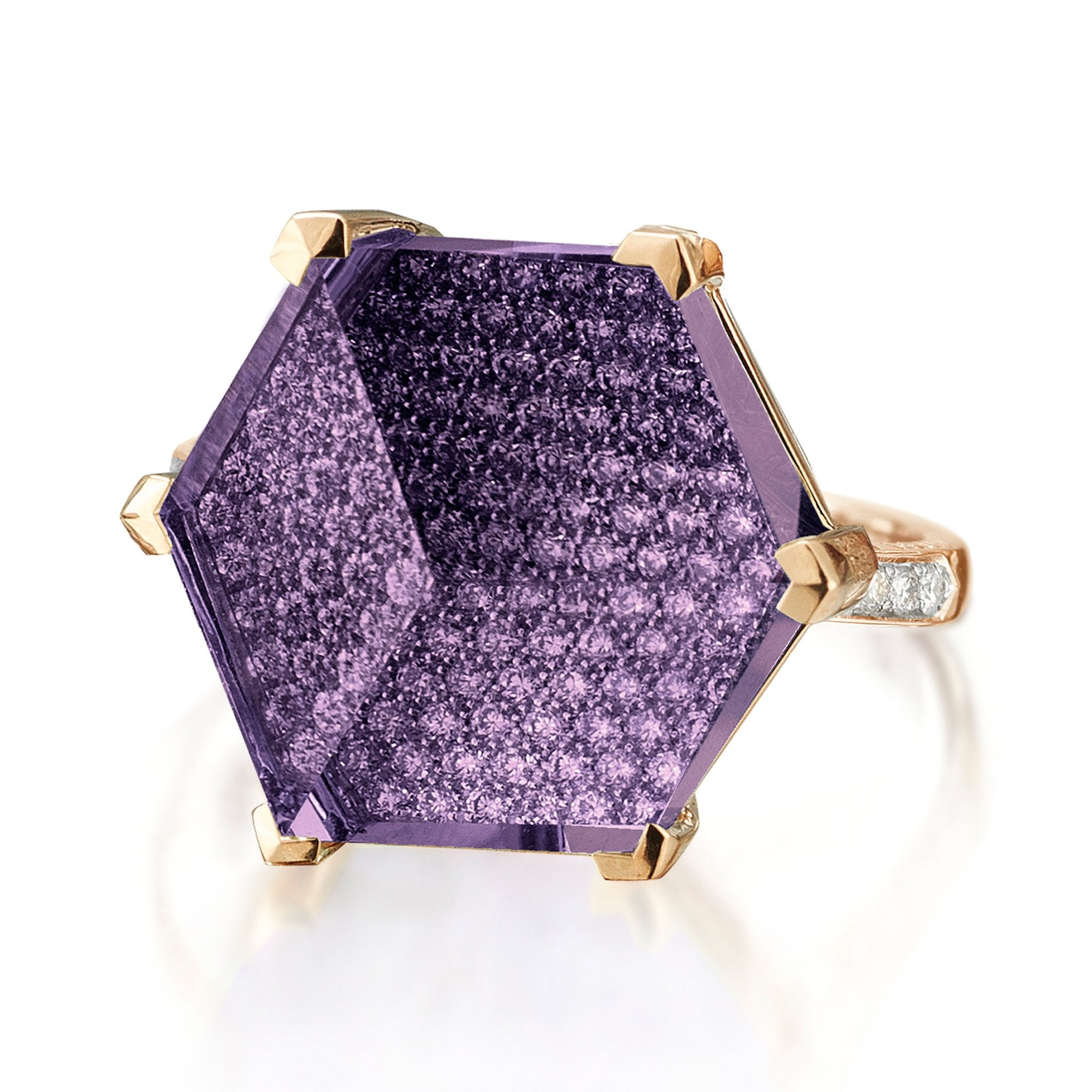 Amethyst and Diamond 'Brillante® Valentina' Ring, Grande - Paolo Costagli - 1