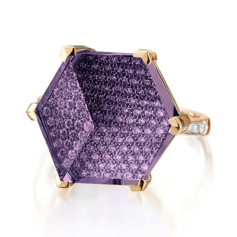 Amethyst and Diamond Brillante® Valentina Ring, Grande - Paolo Costagli