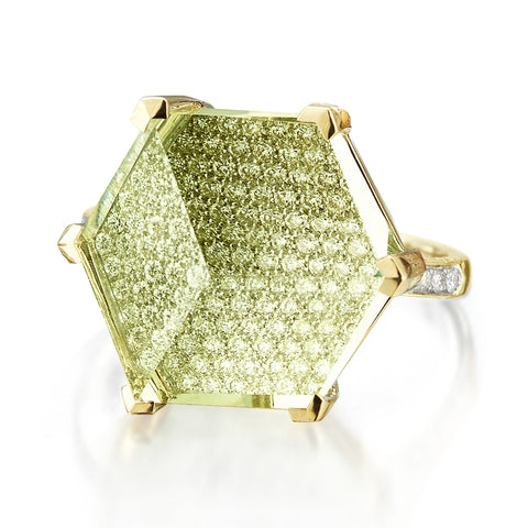 Lemon Citrine and Diamond 'Brillante® Valentina' Ring, Grande - Paolo Costagli - 1