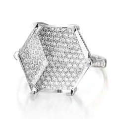 White Topaz and Diamond Brillante® Valentina Ring, Grande - Paolo Costagli
