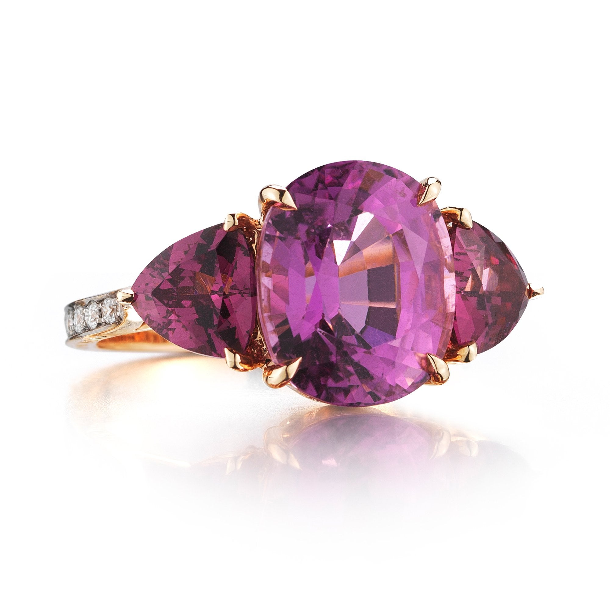 Pink Tourmaline and Garnet Ring - Paolo Costagli - 1