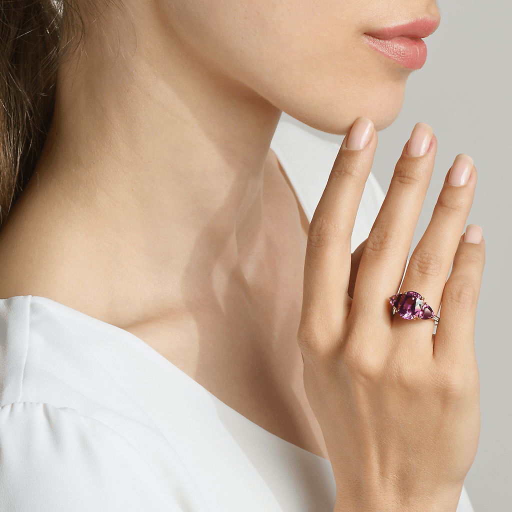Pink Tourmaline and Garnet Ring - Paolo Costagli - 2