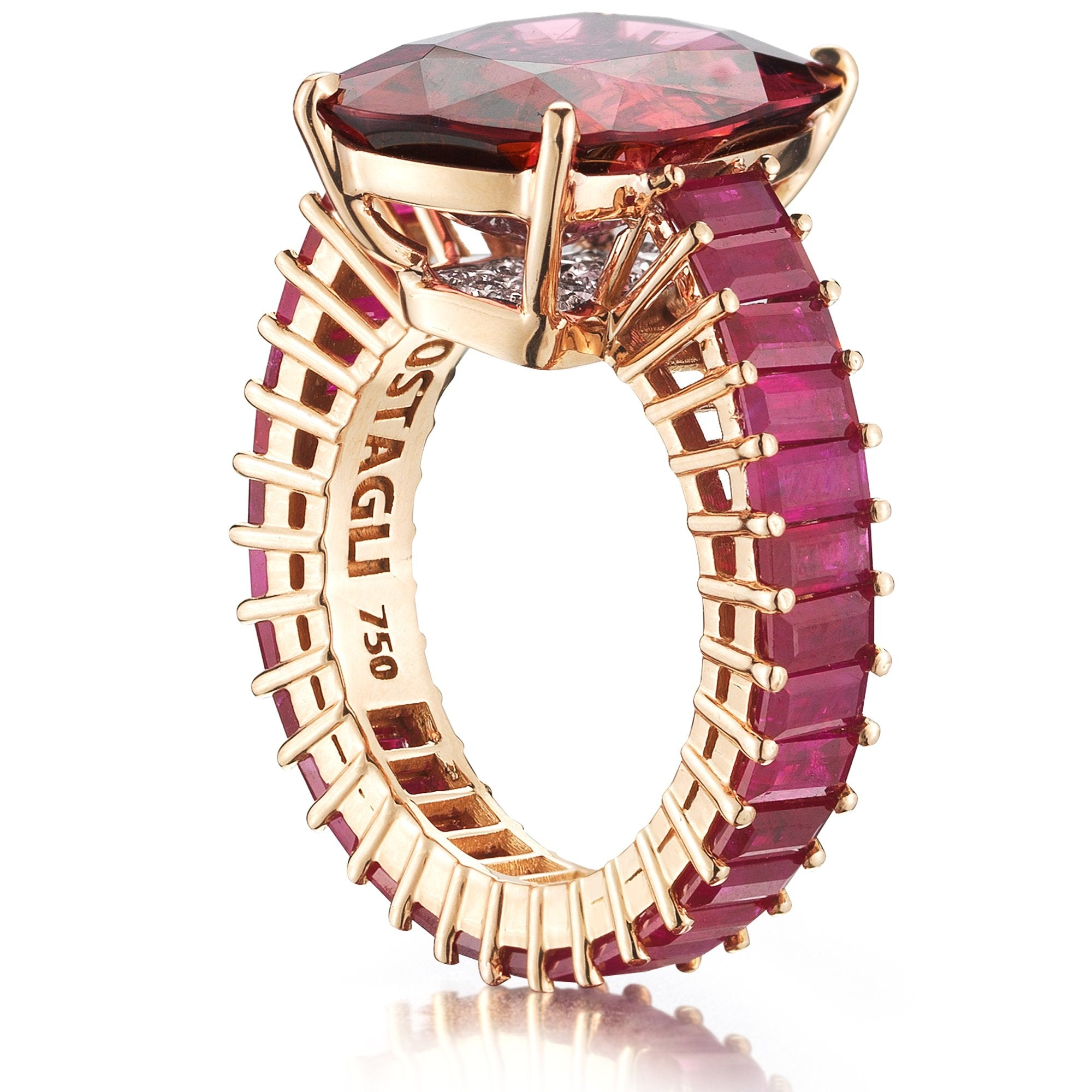 Rubellite Tourmaline and Ruby 'Eternita' Ring - Paolo Costagli
