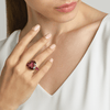 18kt Rose Gold Cushion-Cut Rubellite Tourmaline Ring And Ruby Eternita Ring - Paolo Costagli