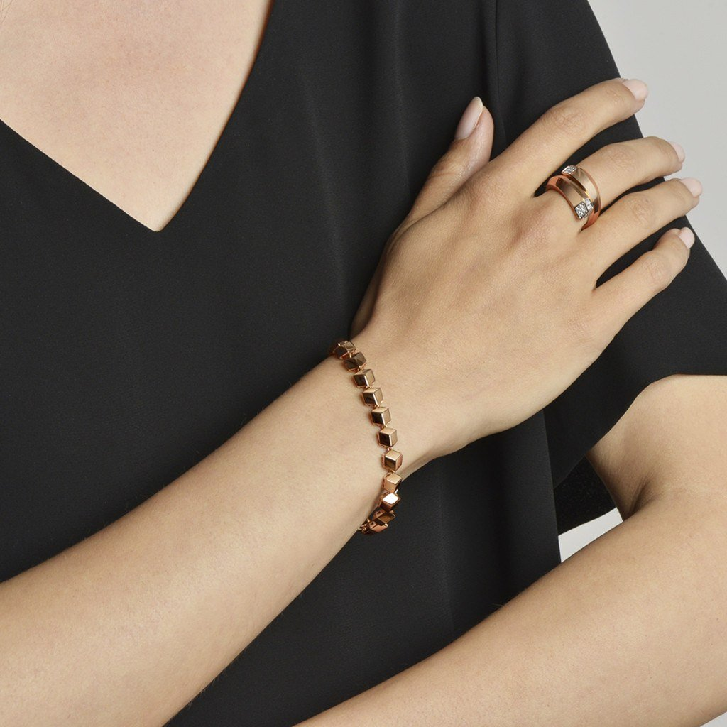 Rose Gold 'Brillante®' Bracelet, Petite - Paolo Costagli - 2