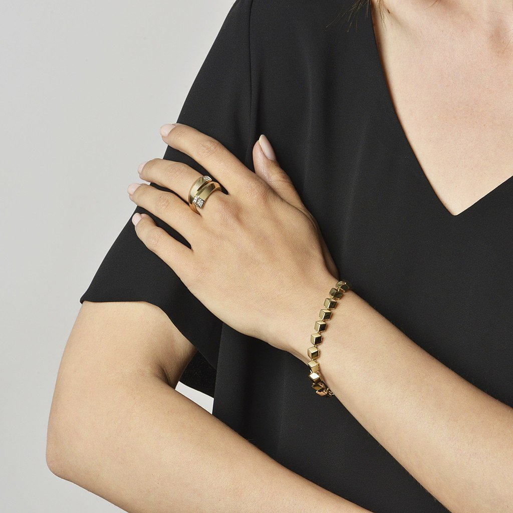 Yellow Gold 'Brillante®' Bracelet, Petite - Paolo Costagli - 2