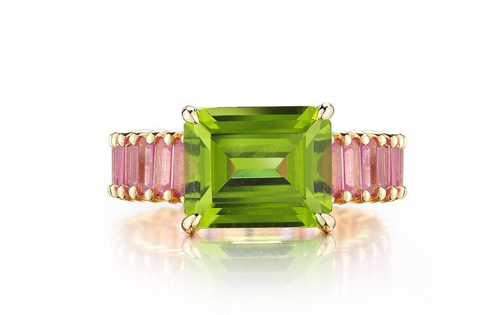 Peridot and Pink Sapphire 'Eternita' Ring - Paolo Costagli - 2