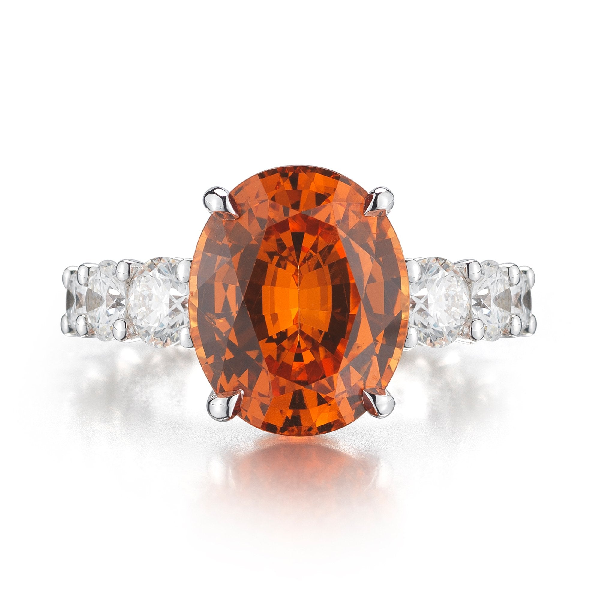Mandarin Garnet and Diamond 'Eternita' Ring - Paolo Costagli - 1