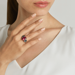 non-traditional tourmaline ring
