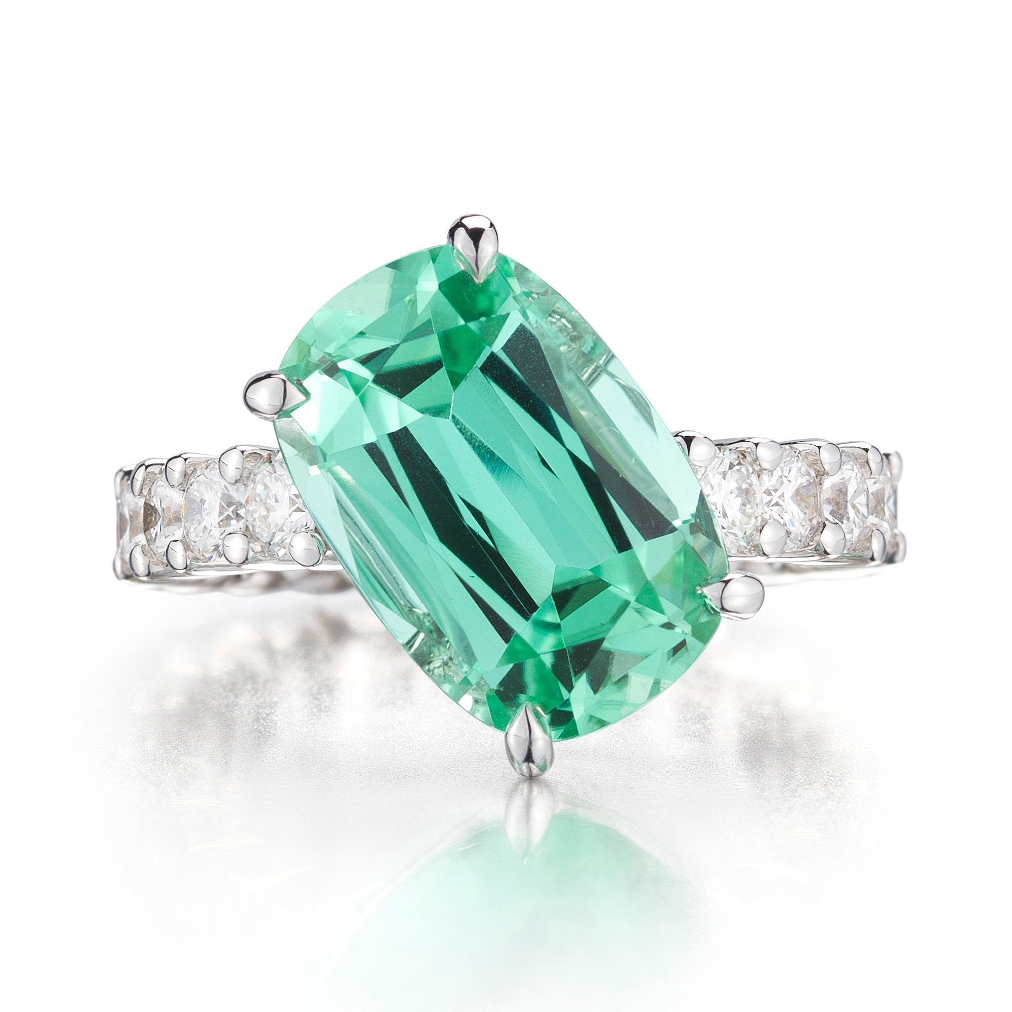 11 o'clock® Mint Tourmaline and Diamond 'Eternita' Ring - Paolo Costagli - 1