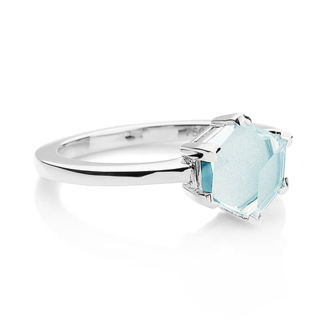 18kt White Gold Blue Topaz Brillante® Valentina Ring, dolce - Paolo Costagli