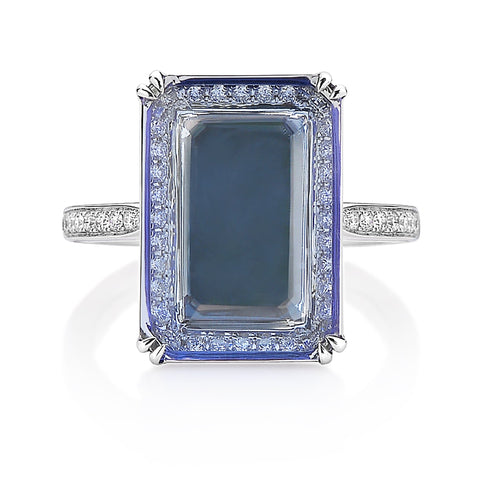 18kt White Gold Tanzanite Ring - Paolo Costagli