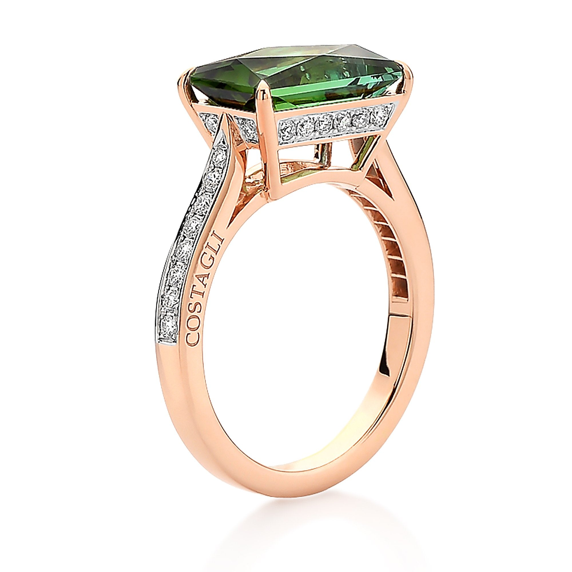 rings gold maine tourmaline green with in ring diamonds tw yellow