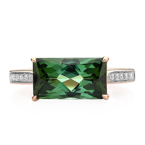 Green Tourmaline and Diamond Ring - Paolo Costagli