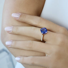 18kt Rose Gold Tanzanite Ring - Paolo Costagli