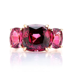 18kt Gold Garnet Ring with Diamonds - Paolo Costagli