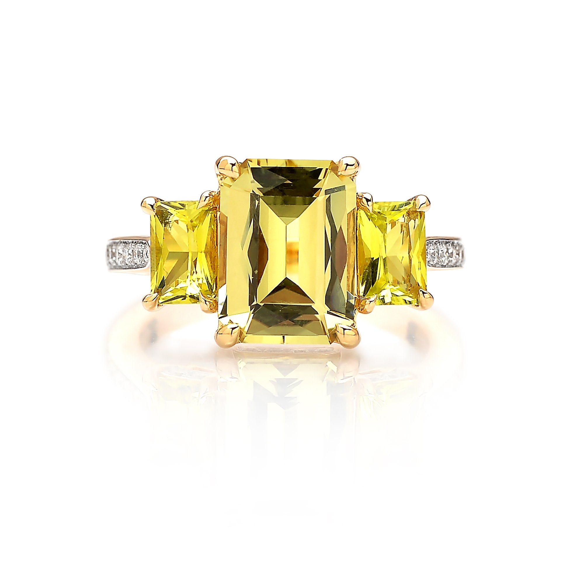 18kt Gold Chrysoberyl, Tourmaline and Diamond Ring - Paolo Costagli
