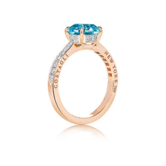 Zircon Ring with Diamonds - Paolo Costagli