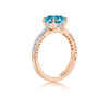 Zircon Ring with Diamonds