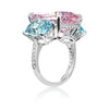 Morganite and Aquamarine Ring with Diamonds - Paolo Costagli