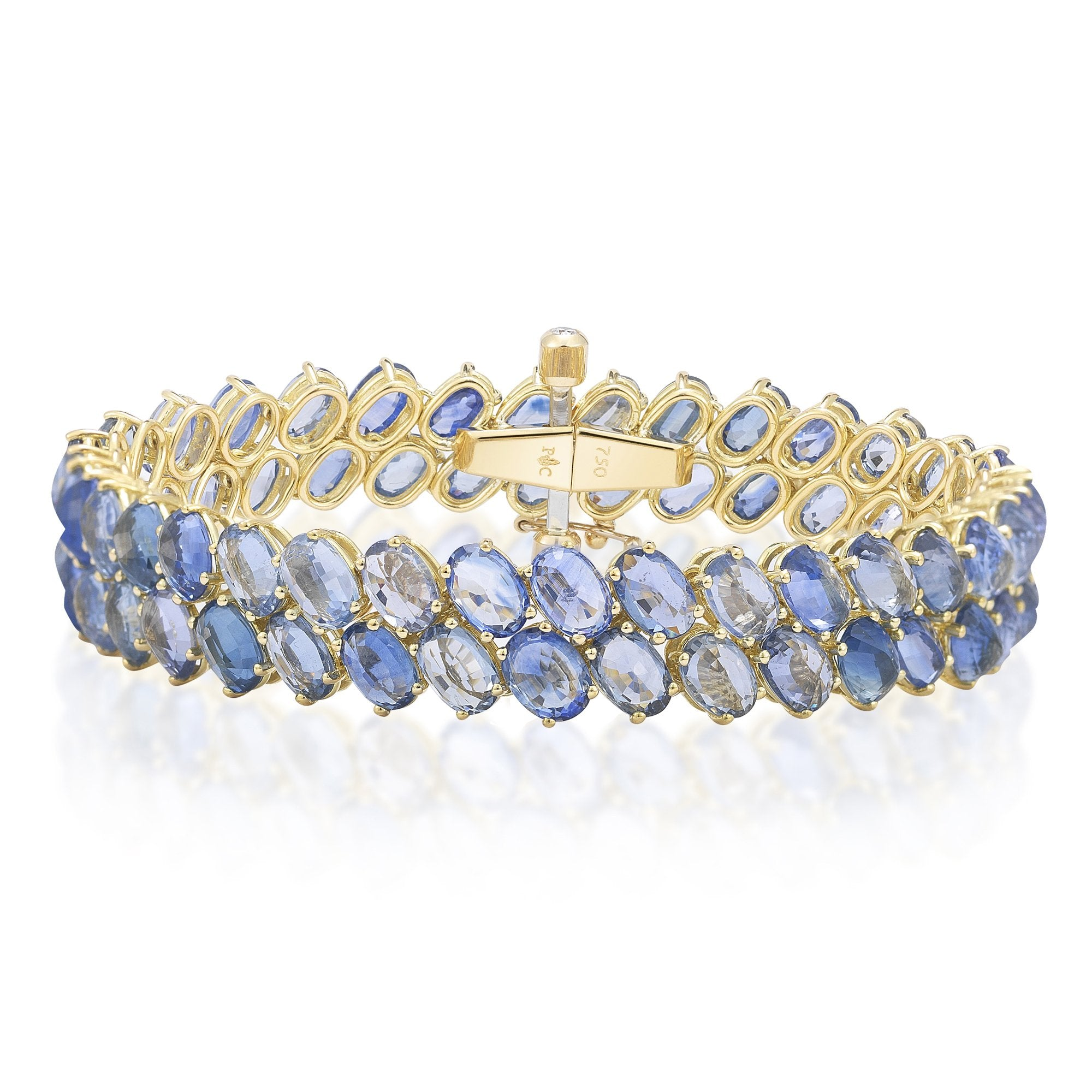 blue tennis sapphire bling gr color sh bracelet jewelry cz