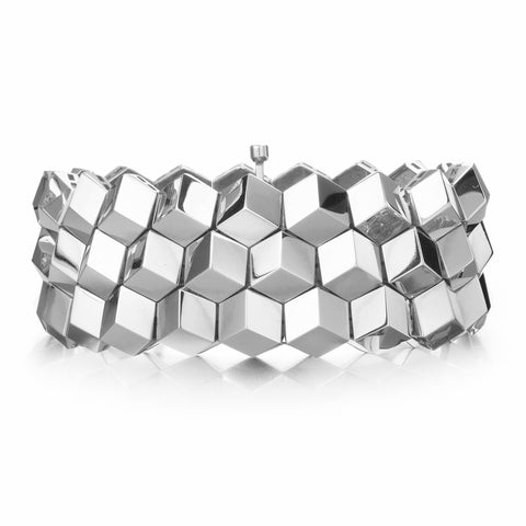 18kt White Gold Brillante® Bracelet, Medium - Paolo Costagli