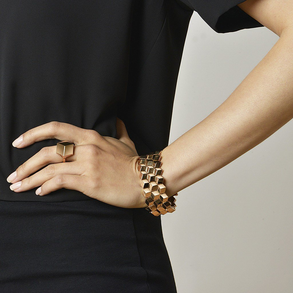 Rose Gold 'Brillante®' Bracelet, Medium - Paolo Costagli - 2