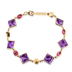 Amethyst and Ruby Florentine Bracelet - Paolo Costagli